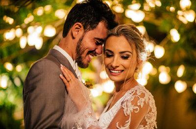 Rebeca & Caio: casamento ao ar livre LINDO em haras no interior de Minas