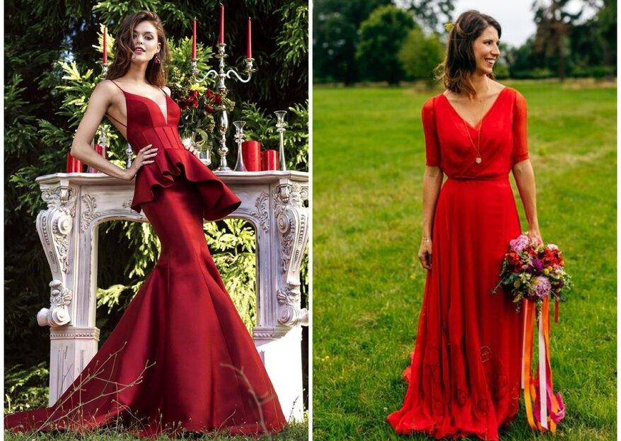 Vestidos de noiva vermelho: 11 modelos arrebatadores!