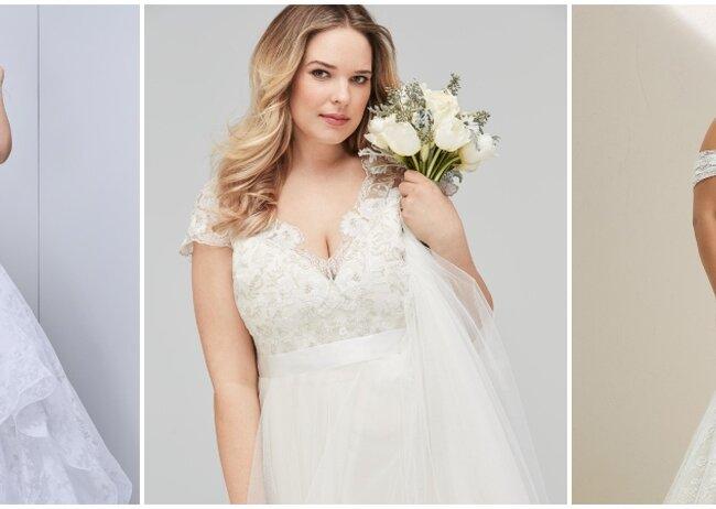 Vestidos de novia rectos para gorditas