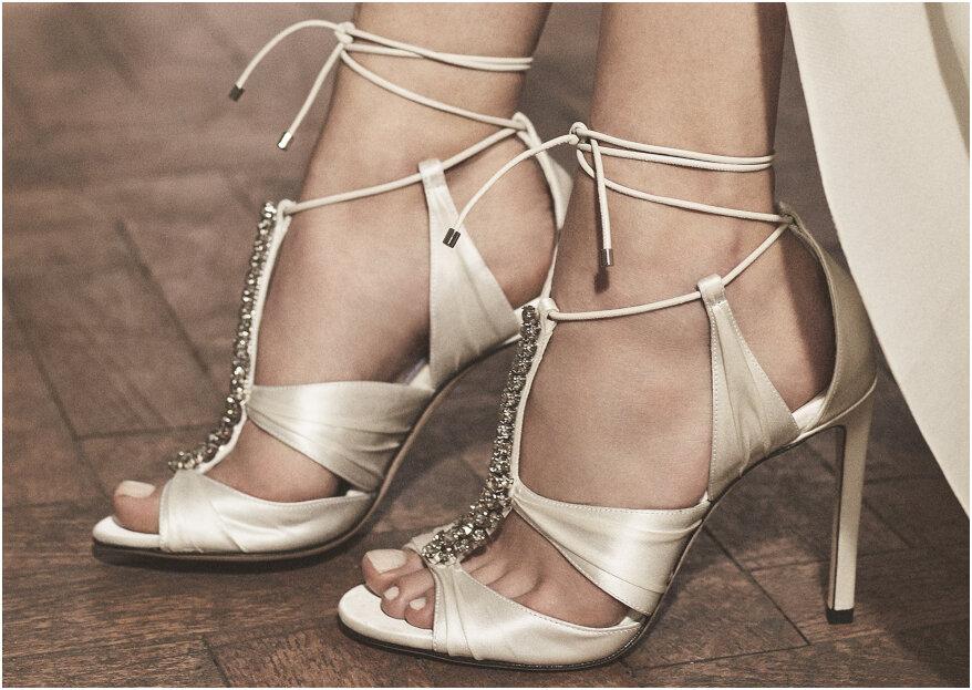 Los zapatos de novia perfectos según el corte de tu vestido. ¡Te contamos!
