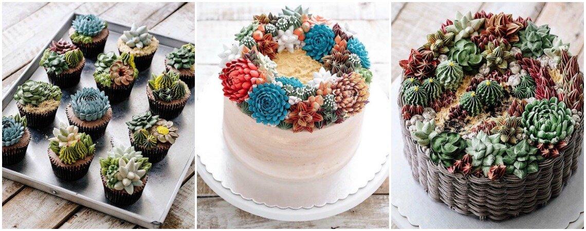 Tortas de estilo terrario: bellos diseños que querrás en la mesa de tu matrimonio