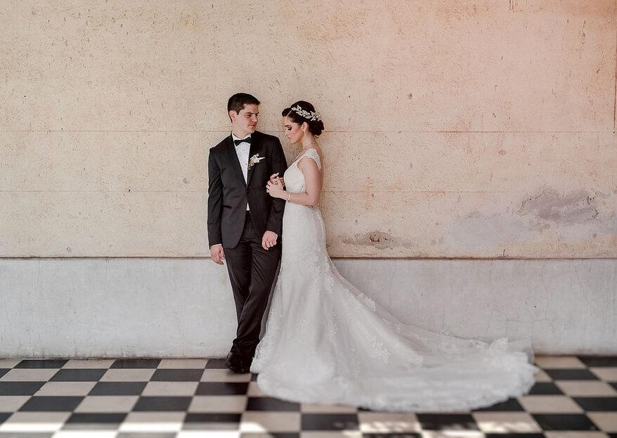 Sesión de fotos first look: los pros y contras de revelar tu look antes de la boda