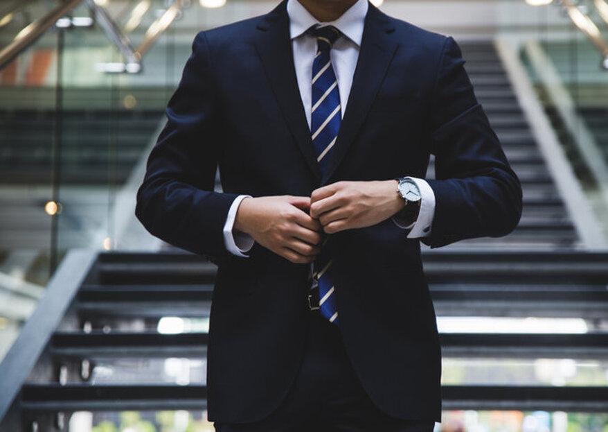Los mejores cinco nudos de corbata para novios. ¡Así se hacen paso a paso!