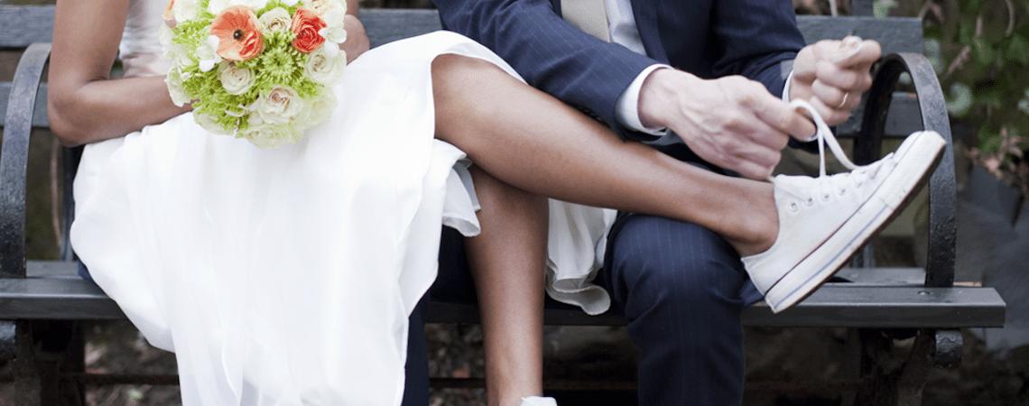 Se marier en baskets ? Osez sauter le pas avec nos jolies inspirations.