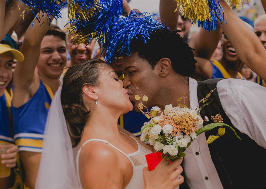 Casamento inspirado no Carnaval: brilho, cor e folia para o grande dia!