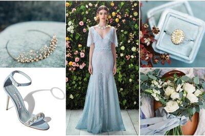 Look da semana: noiva de cor azul