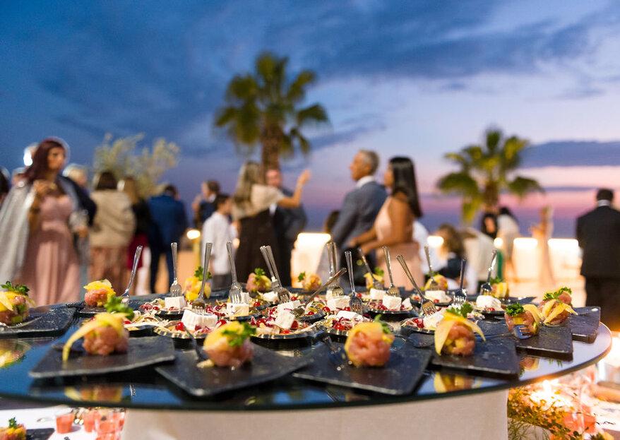 Un matrimonio con vista al Mar Ionio: benvenuti al Grand Hotel Riviera
