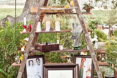 Lleva la decoración de tu boda a lo más alto: escaleras como elemento principal en 2016