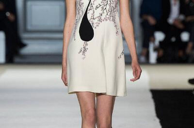 Tu boda civil ya no será la misma: Captura las miradas con estos vestidos primavera 2015 de Giambattista Valli