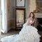 Strapless dress with ruffled skirt by Mia Mia