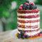 Naked cake com cobertura. Que delícia!