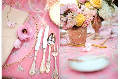 #MartesDeBodas: Romántica decoración de boda en color rosa pastel