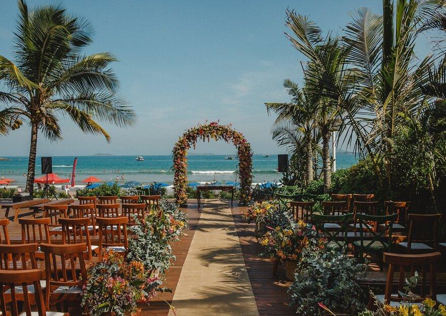 Destination Wedding na praia: as melhores opções para compor uma celebração inesquecível