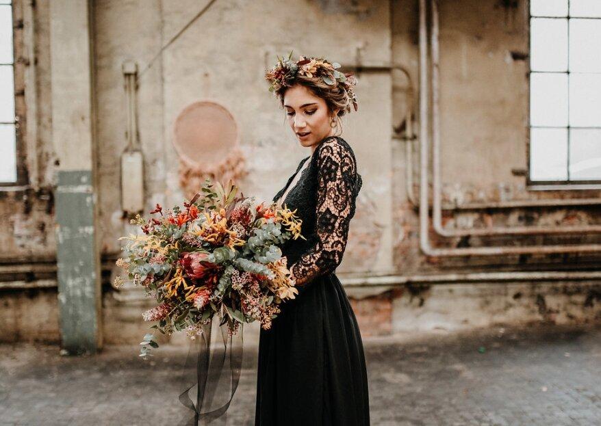 Um vestido de noiva preto? Saiba como pode resultar