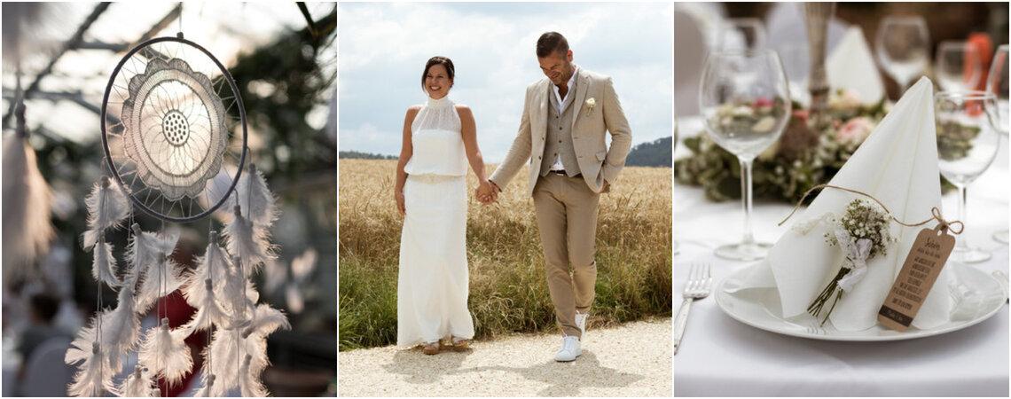 Fröhliche Boho-Hochzeit – Tina und Martin feierten ein entspanntes Fest im Gewächshaus