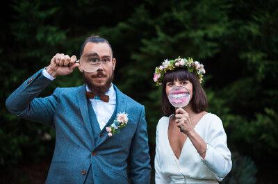 David + Marianne : Un joli mariage en Seine-et-Marne et un day after en Maurienne, en ski et robe de mariée !
