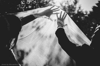 Il romantico matrimonio simple chic di Elisabetta e Santo