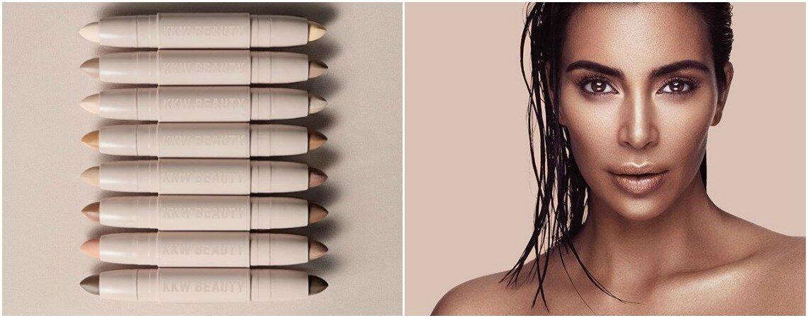 Kim Kardashian lança uma linha própria de maquiagem e gera polêmica