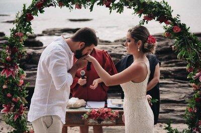 Casamento na praia de Natalia e Henrique: um destination wedding emocionante, intimista e inspirador!