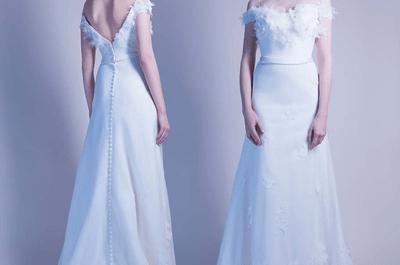 Robes de mariées Aurélie Cherell 2017 : des modèles romantiques qui célèbrent la femme moderne