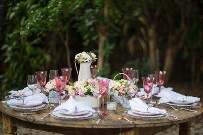 Como decorar o seu casamento com a cor do ano: rosa quartz!