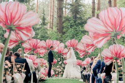 Цветочные мотивы и принты в свадебном декоре