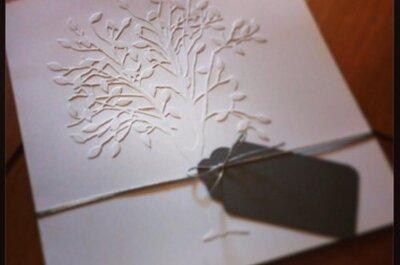 Invitaciones de boda con texturas