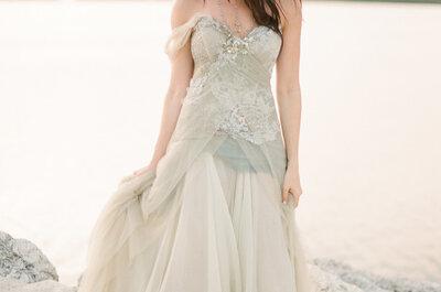 Hochzeitskleider in bunten Tönen: Die Braut von heute bekennt Farbe