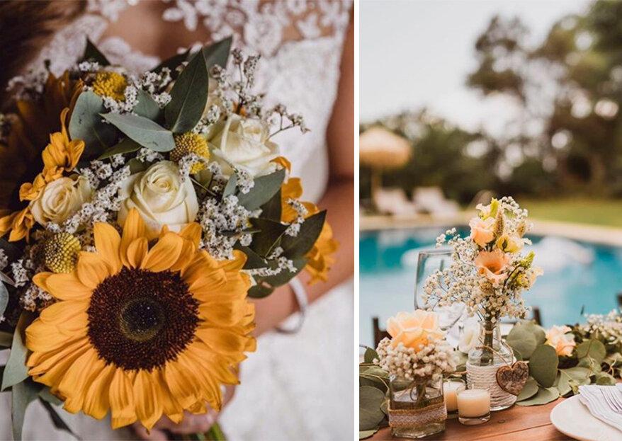 """""""Sí, quiero"""" una boda repleta de flores y más si proceden de Pertu"""