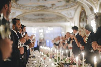 La guida al calcolo degli alcolici per il tuo matrimonio: in alto i calici!