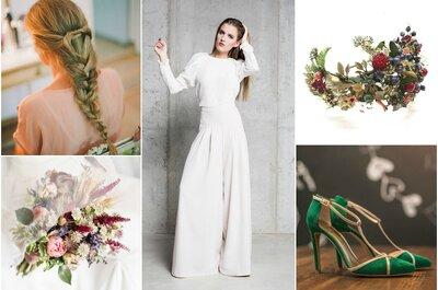 Look de la semana: novia con pantalón palazzo