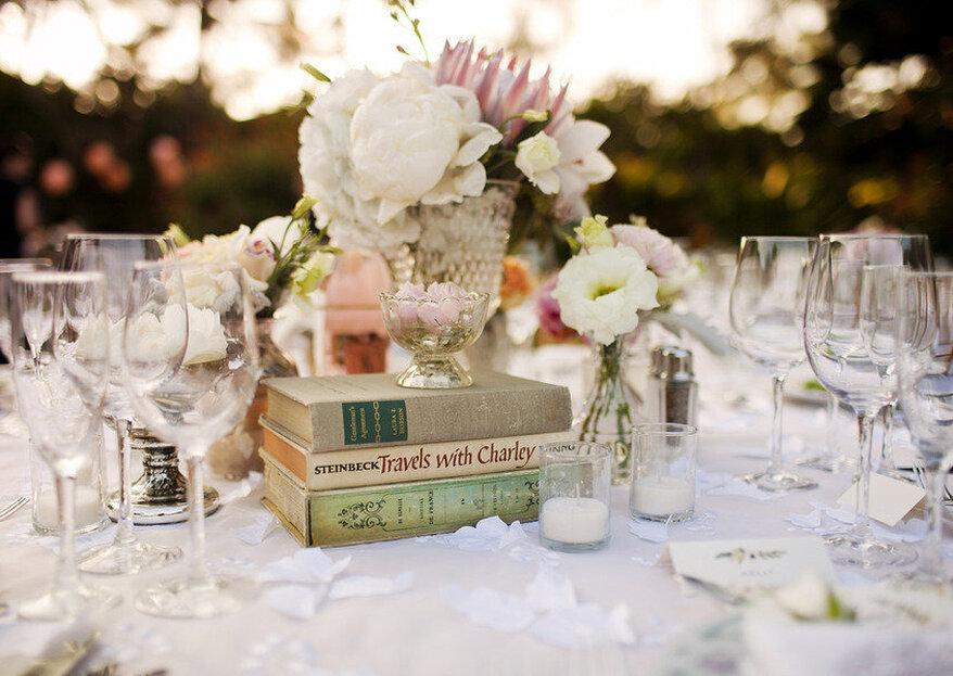 Decora tu boda con libros, la tendencia más original de la temporada