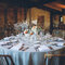 Low rustic chic table centres
