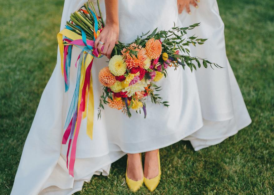 Estas son las tendencias en zapatos de novia. ¡Aléjate de la tradición y diviértete!