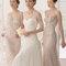 Hochzeits-Kleid: Brautkleid mit dreiviertel Ärmeln mit Spitze an den Rändern