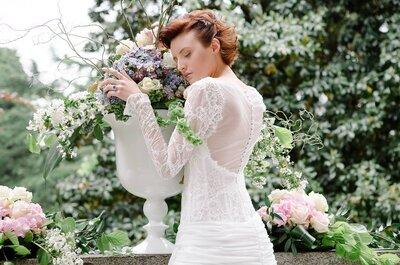 Maniche lunghe per la sposa d'inverno, autunno, primavera ed estate