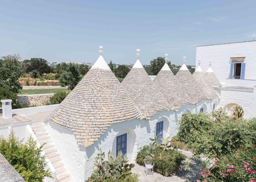 Masseria Villa Cenci: storia, trulli e charme al servizio delle vostre nozze