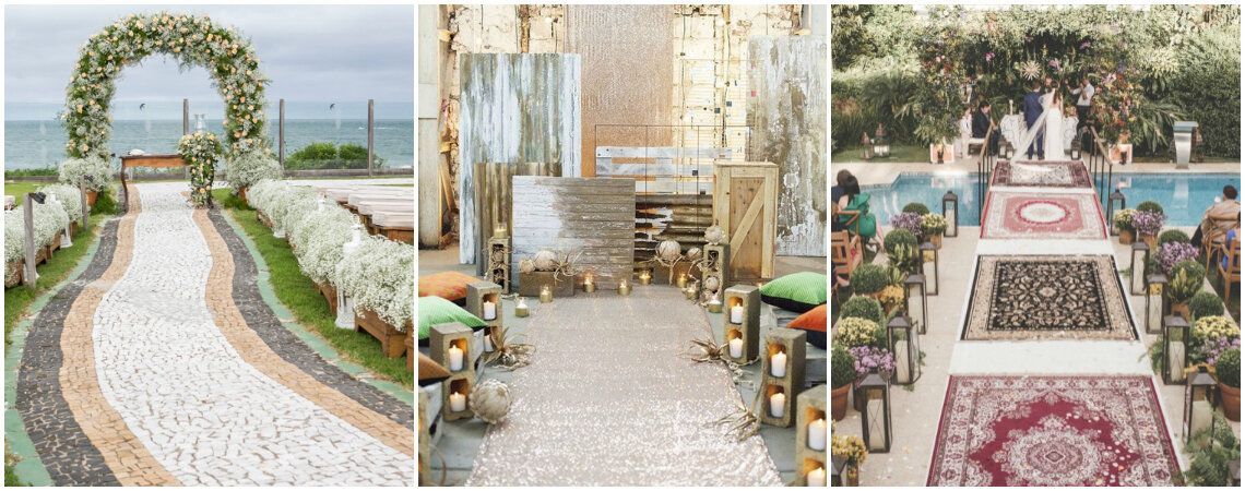 Seis ideas para decorar el camino hacia el altar en una ceremonia al aire libre. ¡Triunfa con tu entrada nupcial!