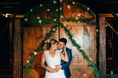 Casamento rústico no campo de Mariana & Alexandre: uma cerimônia emocionante, cheia de fé e amor