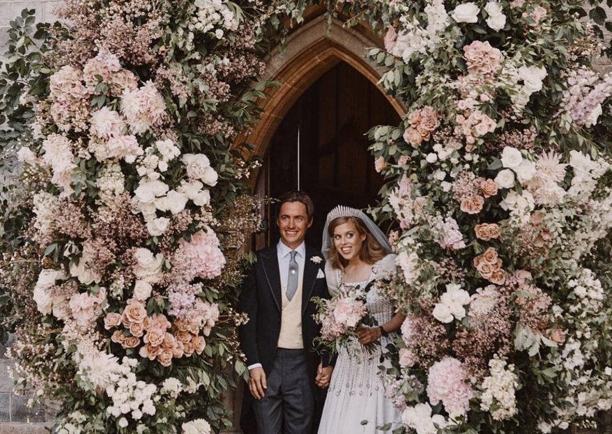 Prinses Beatrice is in kleine kring getrouwd en wij zijn verliefd op haar trouwjurk!