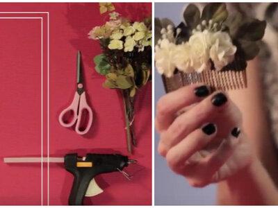 Meu Casamento DIY: como fazer um pente de flores delicado e romântico para o seu cabelo!