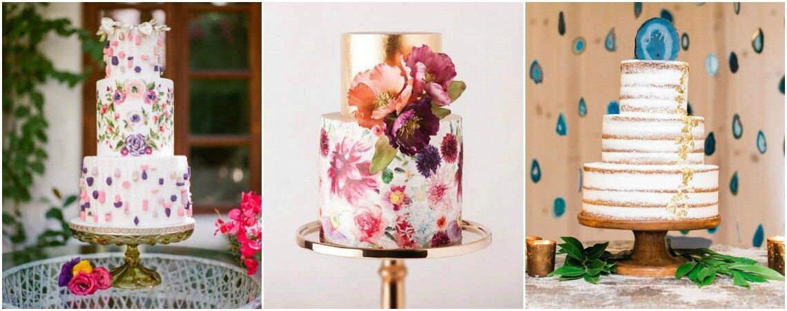 Más de 30 pasteles de matrimonio para inspirarte. ¡Las mejores tendencias para tu gran día!