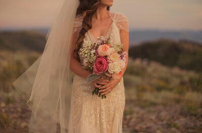Real Weddings: Blush + dorado en una boda vintage elegante