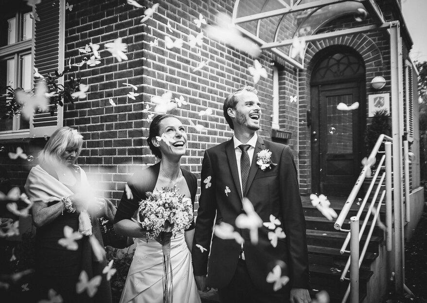 Hochzeitsfotos in schwarz-weiß von Hochzeitsfotografen aus ganz Deutschland