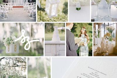 White Love: Inspiración mágica para decorar tu boda con la magia absoluta del color blanco