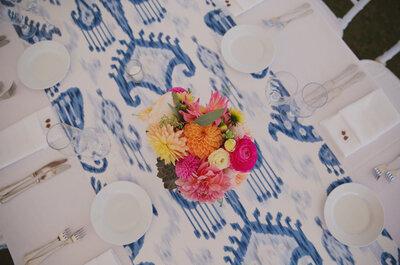 Caminos de mesa: agrega un toque único y especial en la decoración del banquete de tu boda
