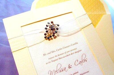 Invitaciones para matrimonio con piedras de bisutería. ¡Conoce hermosos diseños!