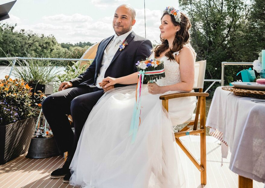 Heiraten auf dem Main - von den Wogen des Wassers inspiriertes Styled Shoot