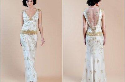 Vestido de noiva vintage gold, by Claire Pettibone 2013