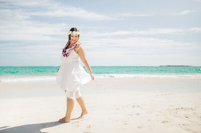 Daniella & John em Kailua Beach: fusão perfeita entre tradição havaiana e alegria brasileira!